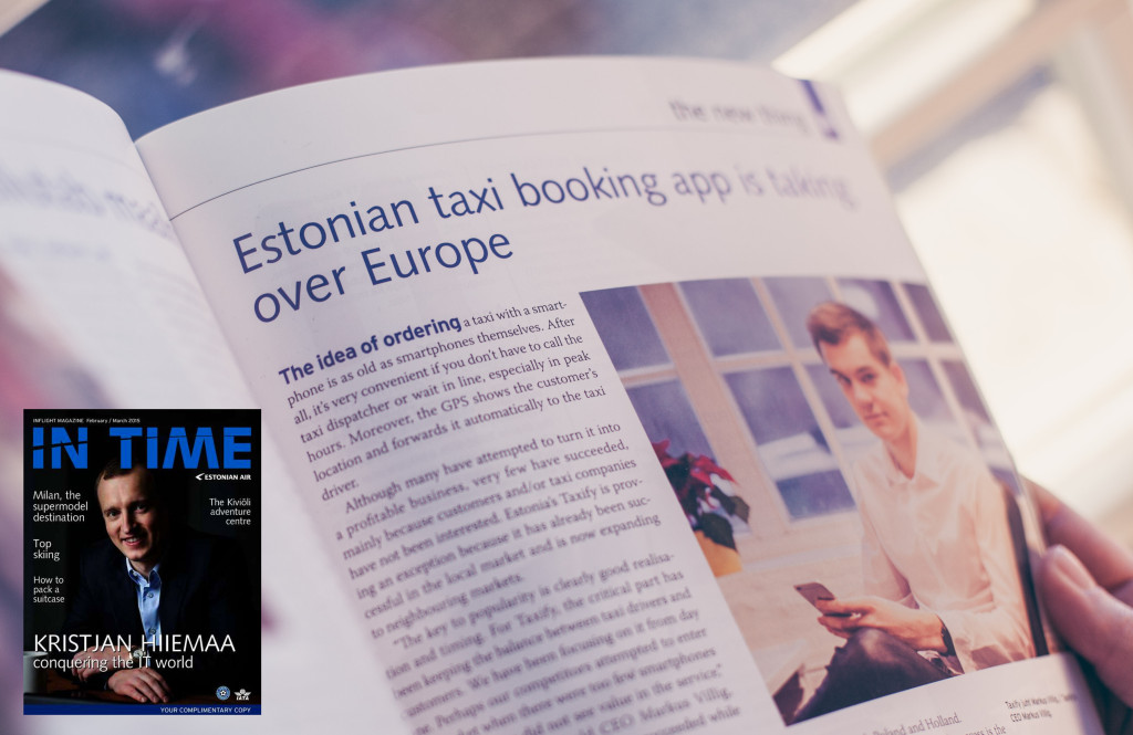 Taxify taxi app Estonian Air In Time