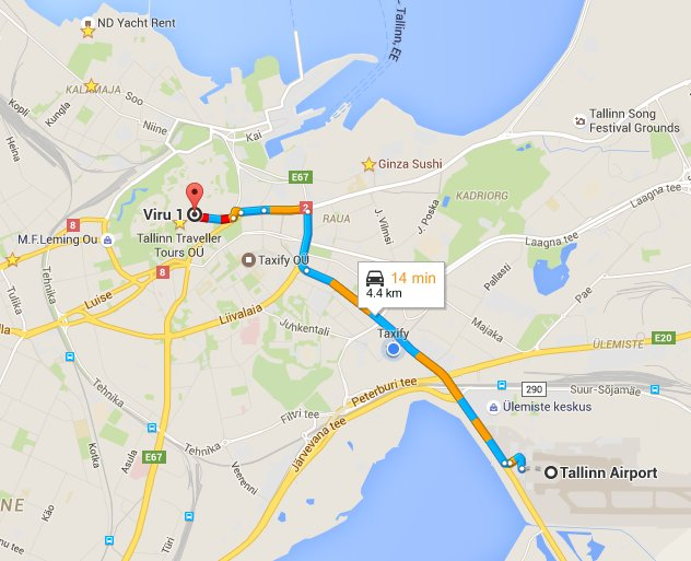 Tallinn Airport Taxi to Tallinn City Center