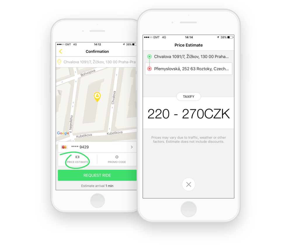 taxify app update get fare estimate for your next ride
