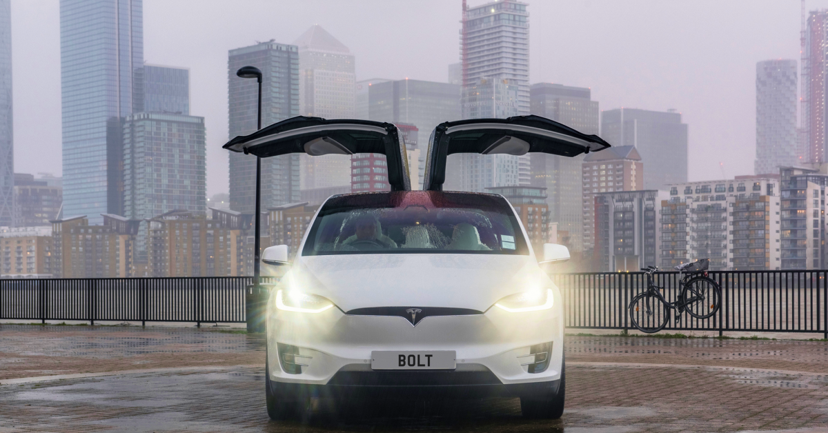 Want to arrive in style? Request a Bolt Tesla!