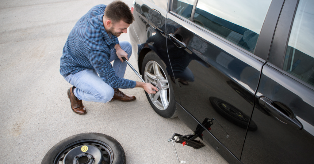 guide to change a flat tyre