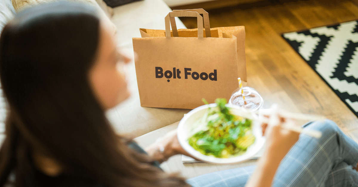 bolt food delivering groceries