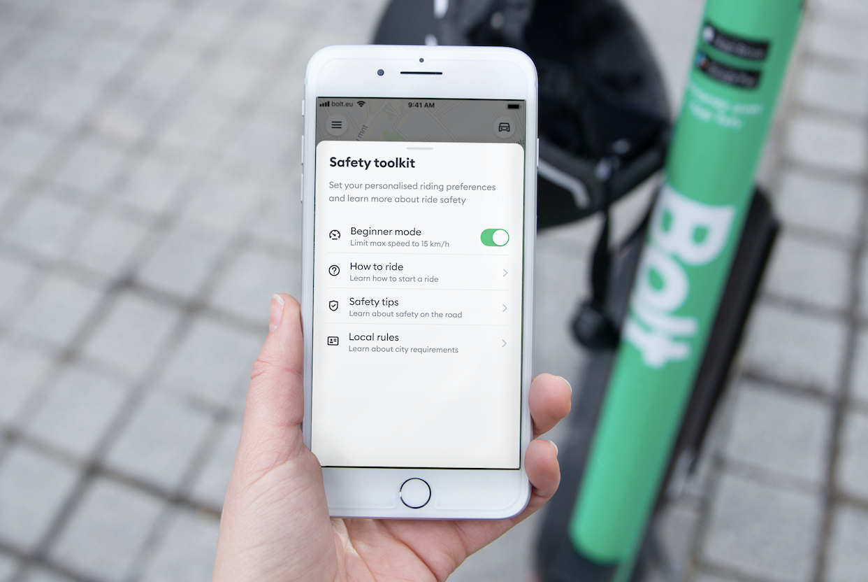 Bolt introduces world's first micromobility Safety Toolkit