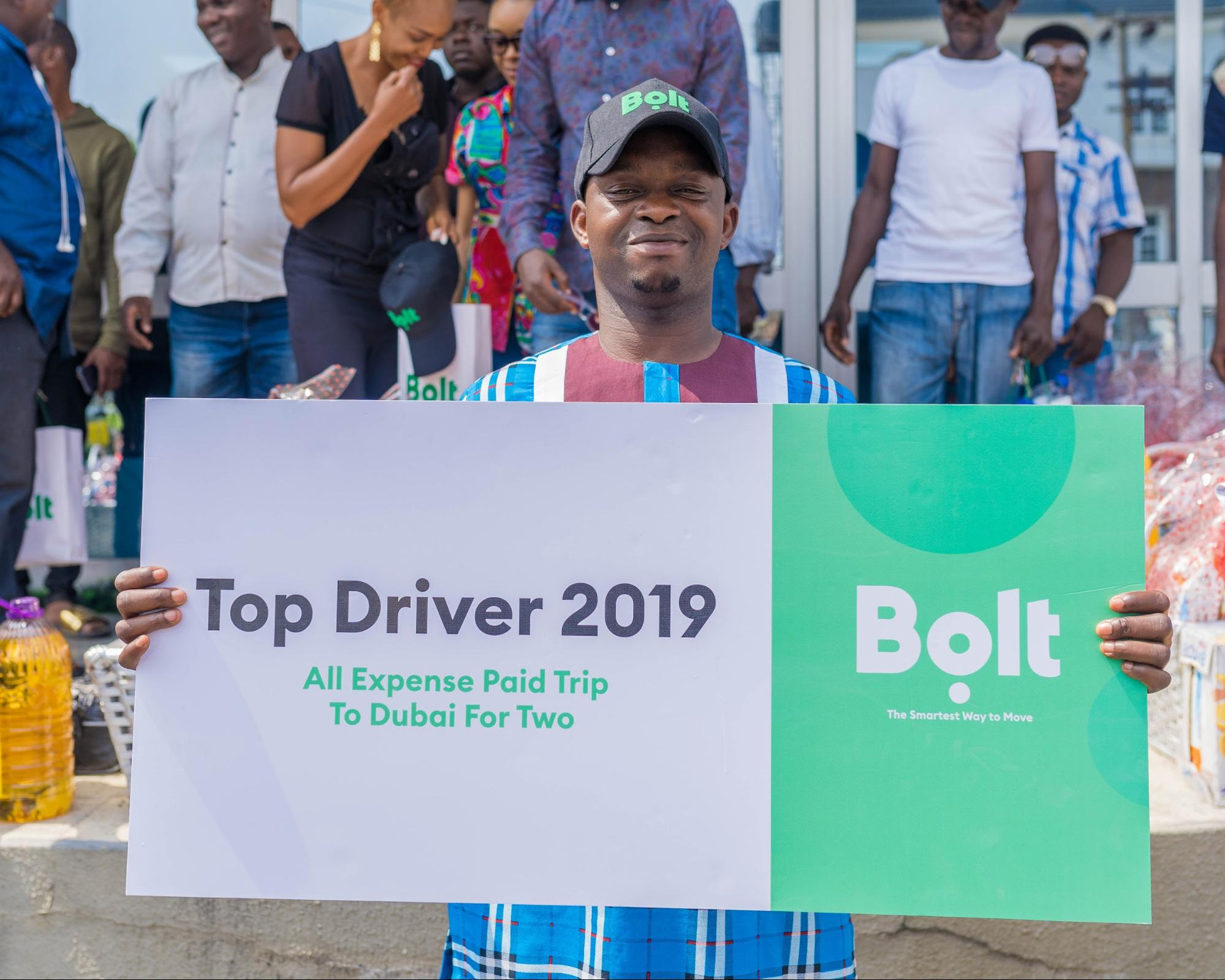 Bolt Top Driver ceremony winner