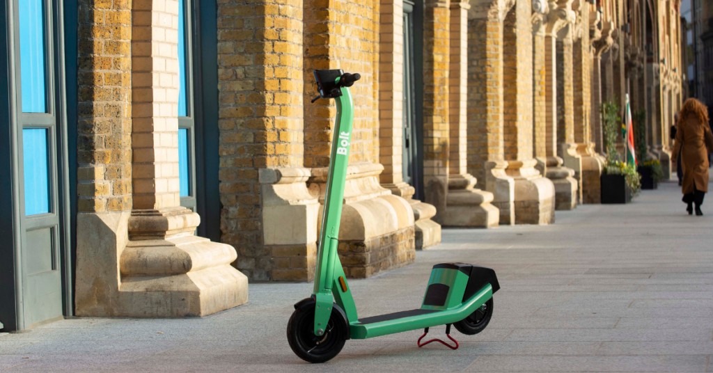 Socially distant travel scooter