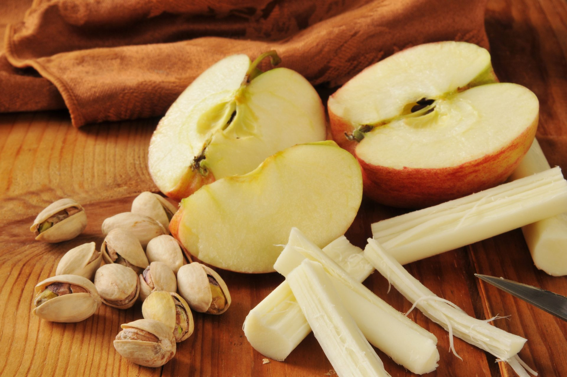 Best snacks_apple and string cheese